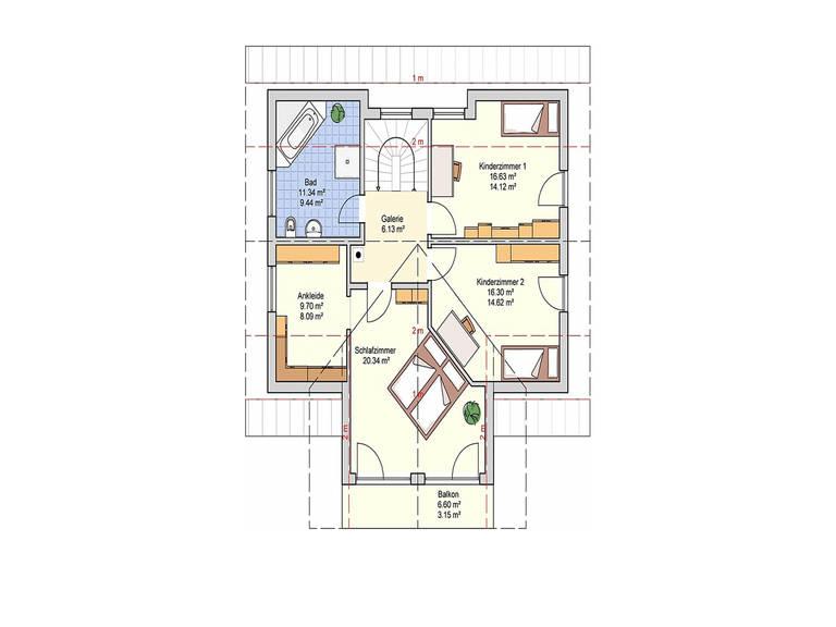 Fingerhut Haus Einfamilienhaus R102.10 Grundriss DG