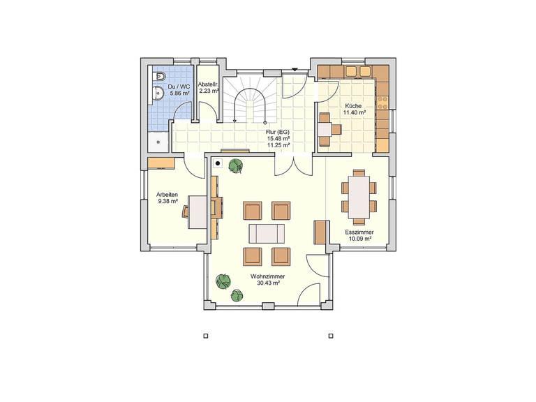 Fingerhut Haus Einfamilienhaus R102.10 Grundriss EG