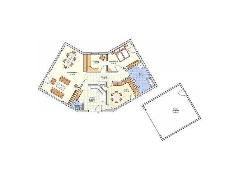 Fingerhut Haus Zweifamilienhaus L 161.10 Grundriss EG