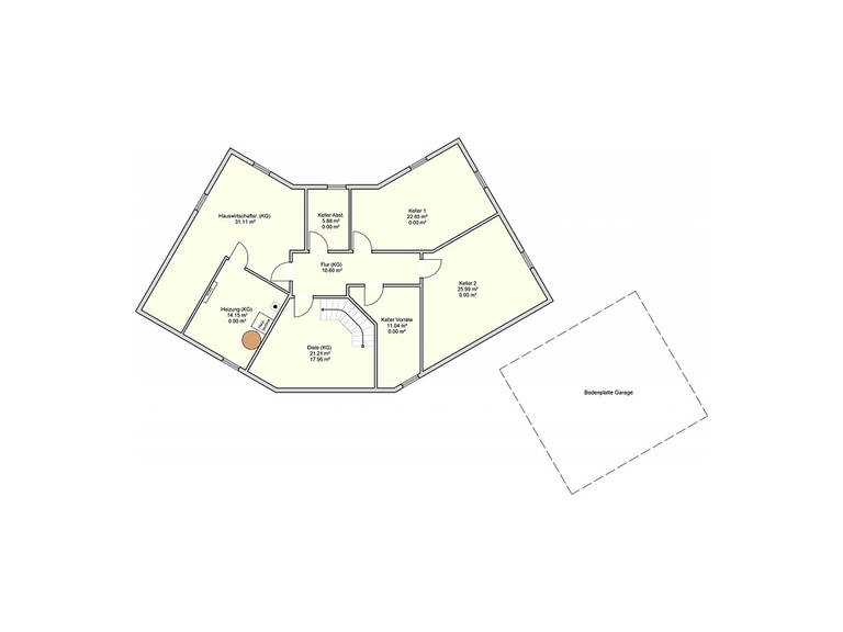 Fingerhut Haus Zweifamilienhaus L 161.10 Grundriss KG