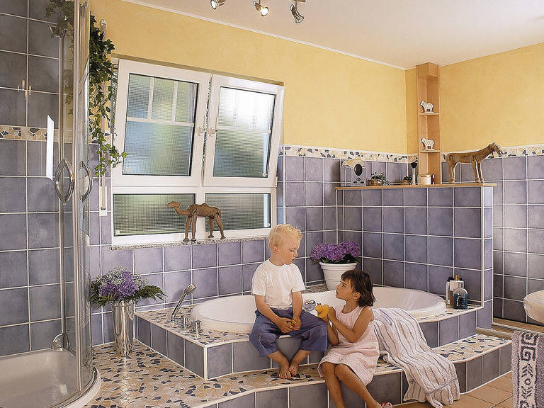 Innenansicht Badezimmer - Zweifamilienhaus L161.10 - Fingerhut Haus