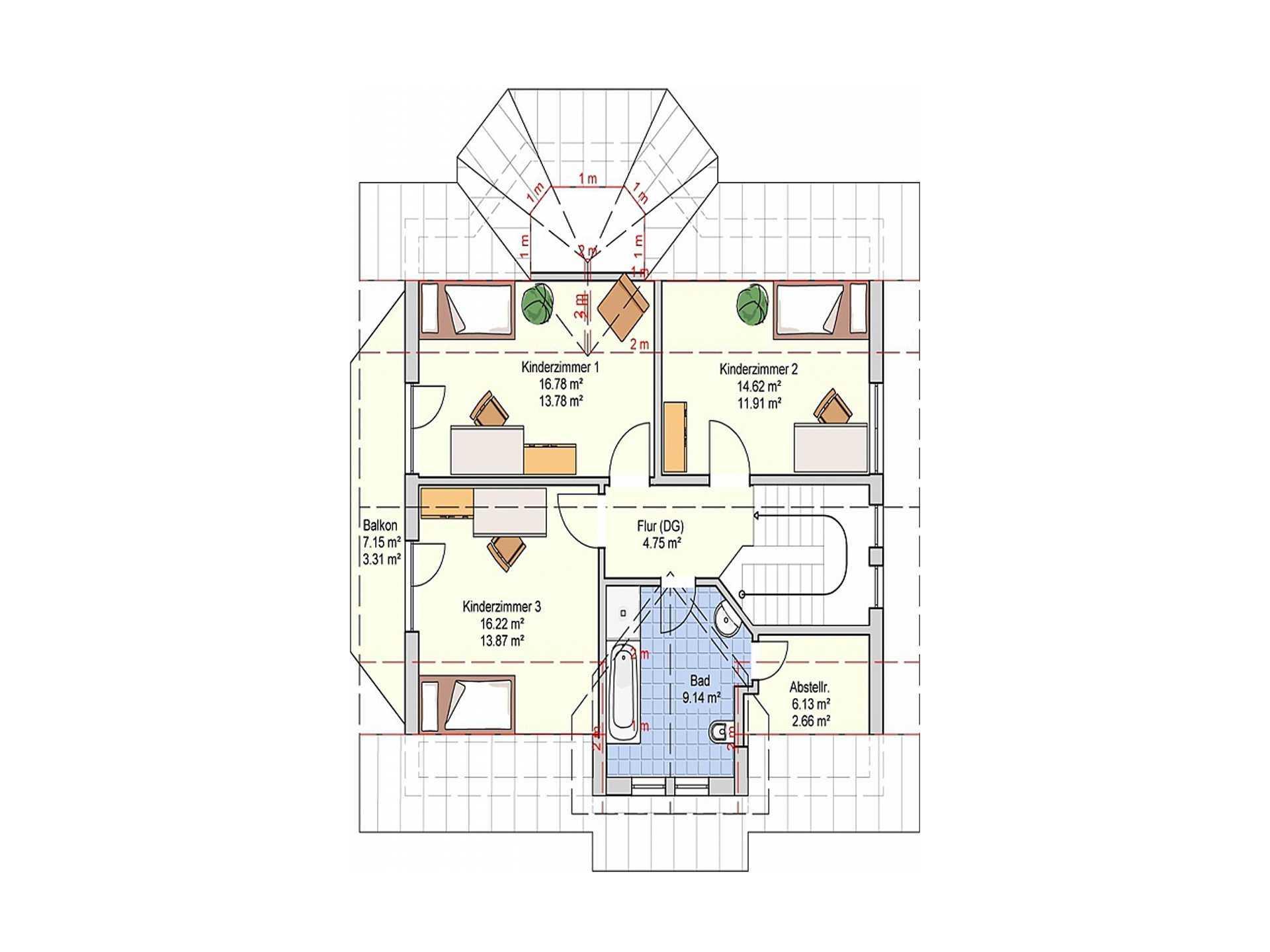 Fingerhut Haus Einfamilienhaus R110.20 Grundriss DG