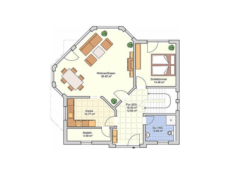 Fingerhut Haus Einfamilienhaus R110.20 Grundriss EG