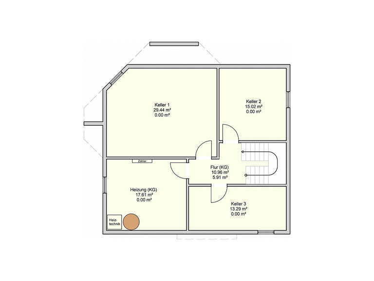 Fingerhut Haus Einfamilienhaus R110.20 Grundriss KG