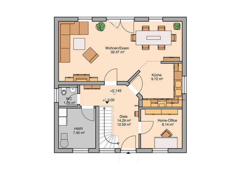 Familienhaus Luna von Kern-Haus Grundriss EG