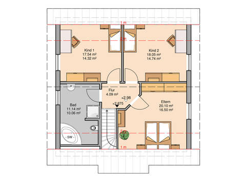 Familienhaus Luna von Kern-Haus Grundriss OG