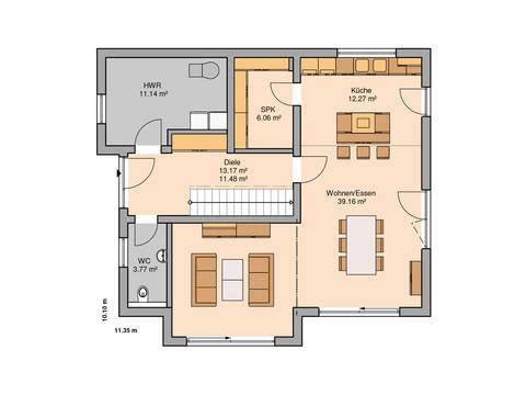Familienhaus Vero von Kern-Haus Grundriss EG