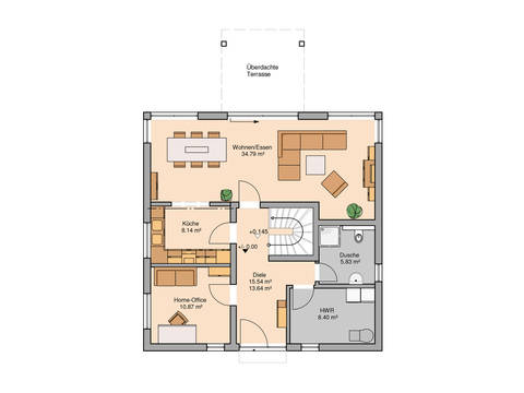 Stadtvilla Centro von Kern-Haus Grundriss EG