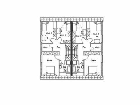 Doppelhaus 130 M - Baudirekt Grundriss DG