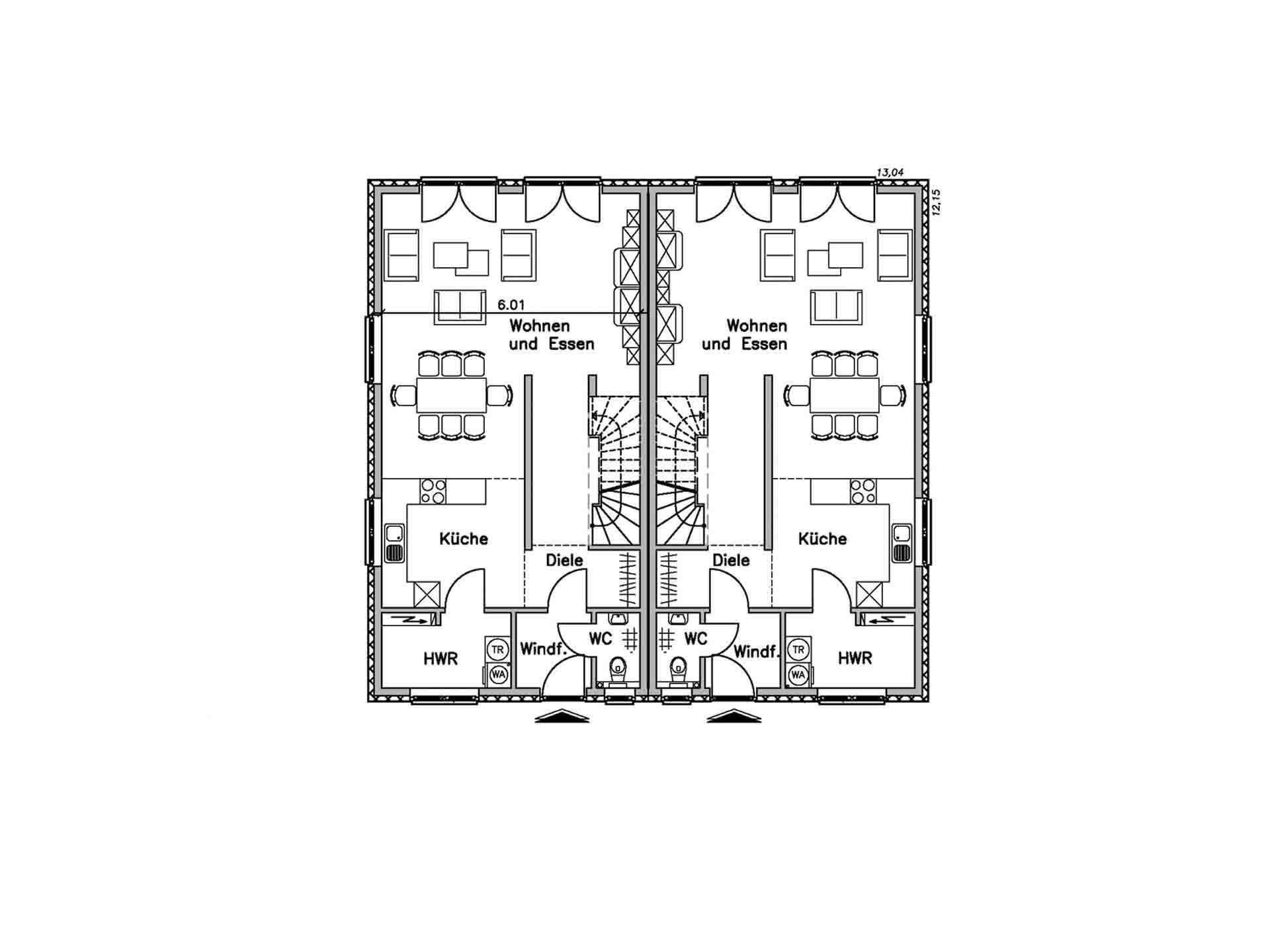 Doppelhaus 130 M BAUDIREKT
