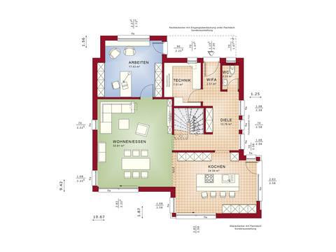 Grundriss EG Fantastic 163 V2 von Bien-Zenker
