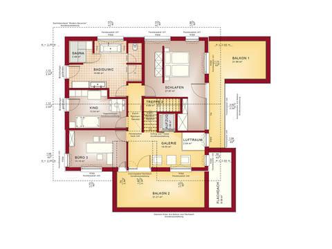 Grundriss DG Musterhaus CONCEPT-M 211 Mannheim