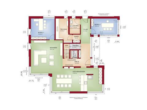 Grundriss EG Musterhaus CONCEPT-M 211 Mannheim