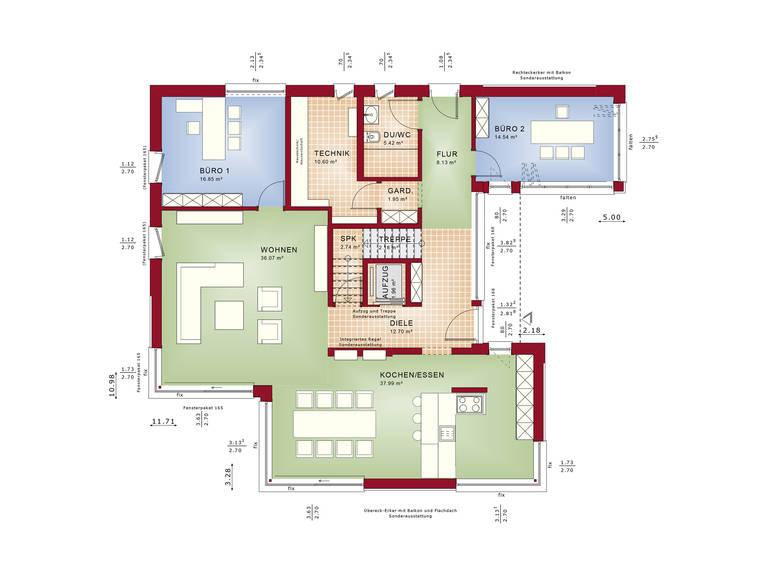 Grundriss EG Evolution Mannheim von Bien-Zenker
