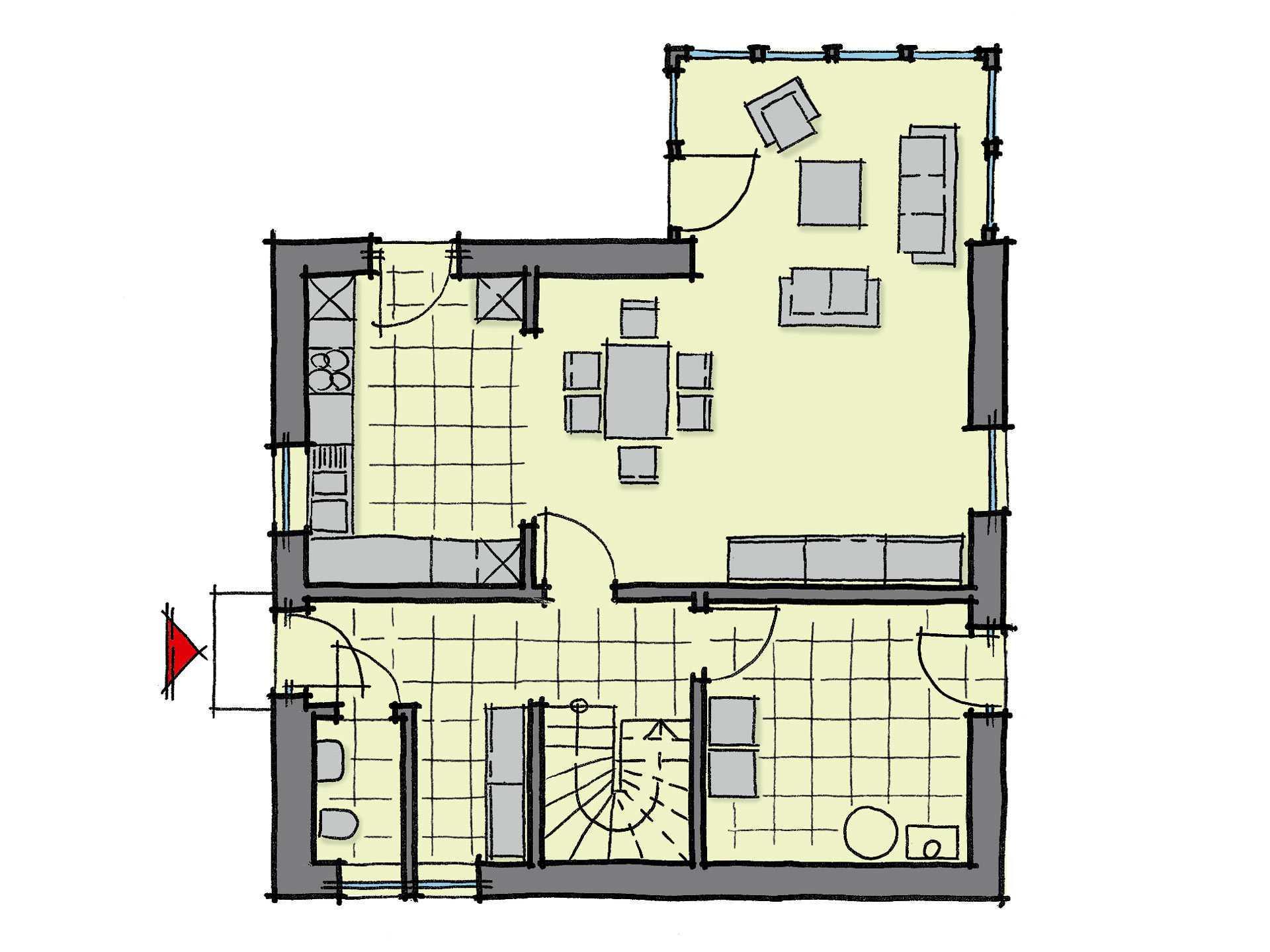 Kastanienallee WL 40 Grundriss von GUSSEK Haus