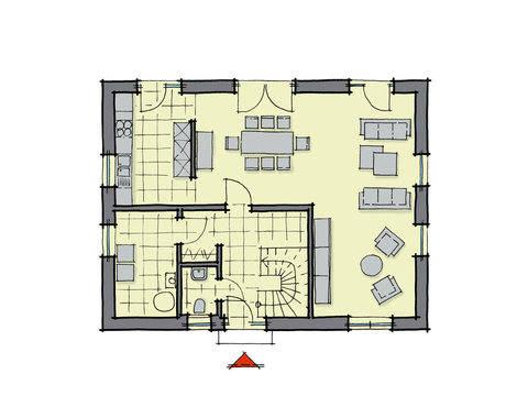 Birkenallee WL 40 Grundriss von GUSSEK HAUS