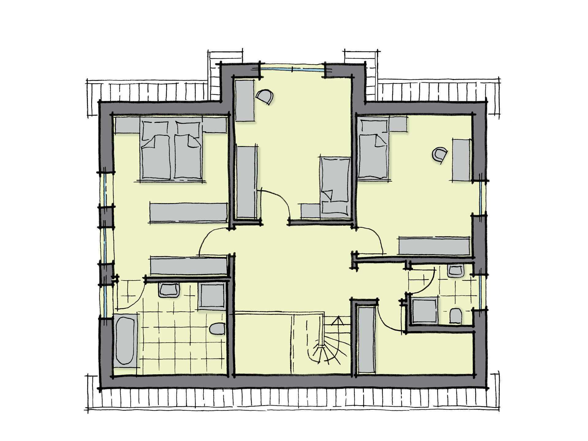 Kiefernallee WL 40 Grundriss von GUSSEK HAUS