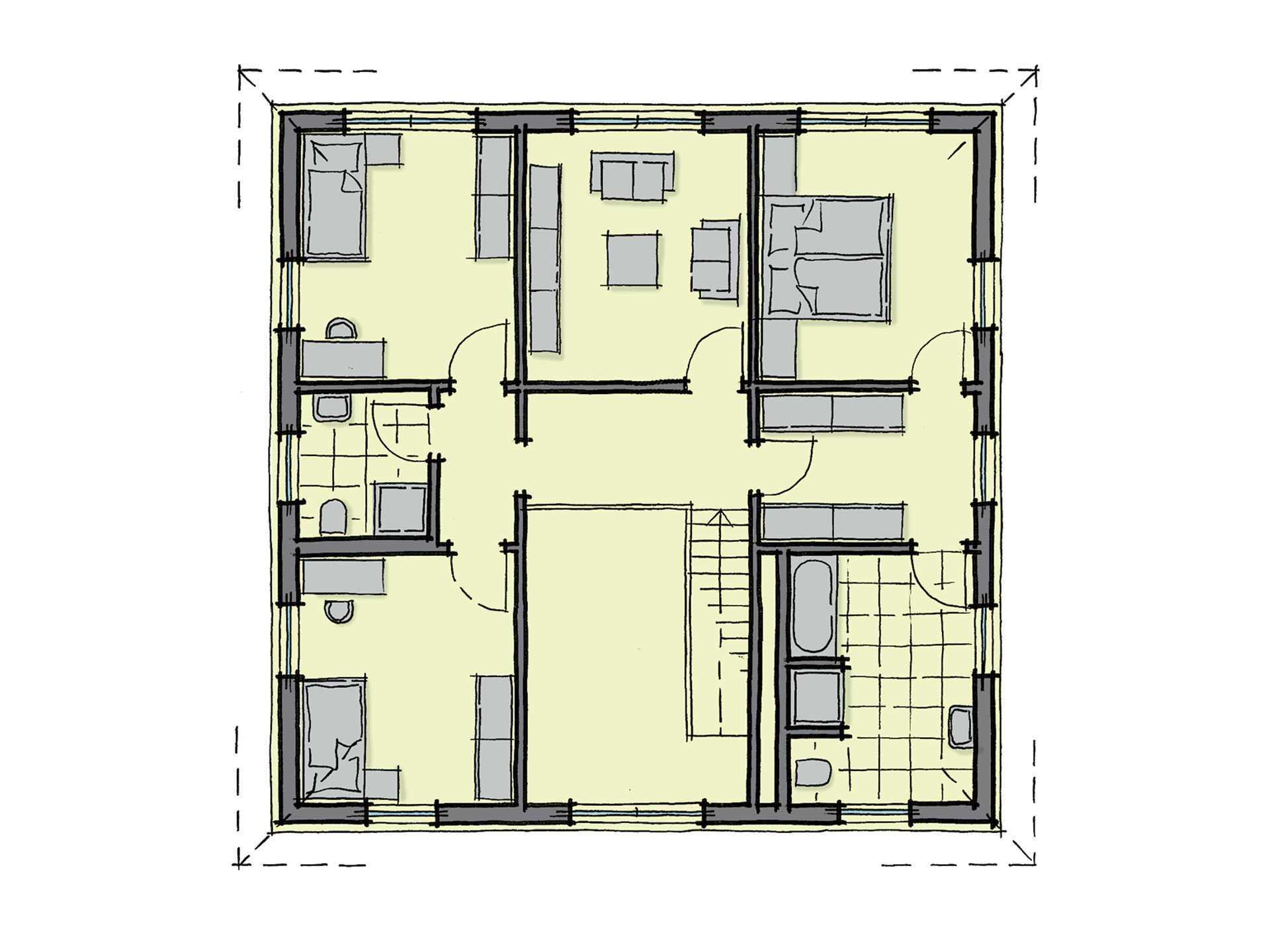 WhiteLine LaFinca 40 Grundriss von GUSSEK HAUS