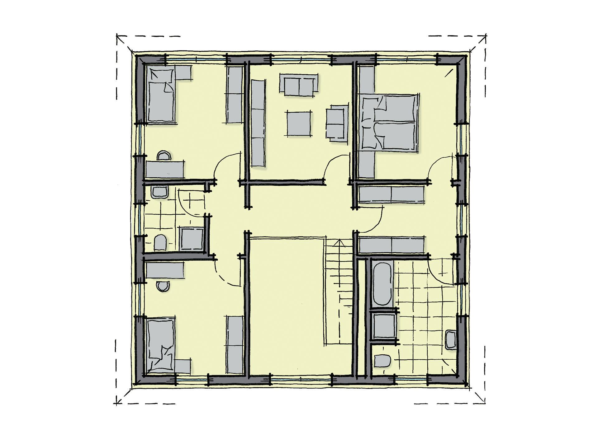 WhiteLine LaRochelle WL 40 Grundriss von GUSSEK HAUS