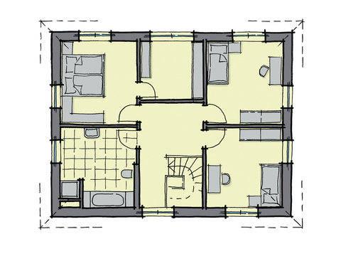 WhiteLine Baixa WL 40 Grundriss von GUSSEK HAUS