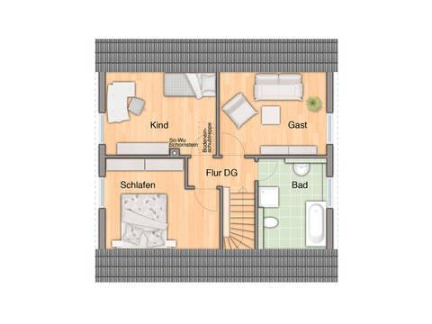 Haus Flair 110 Grundriss Dachgeschoss