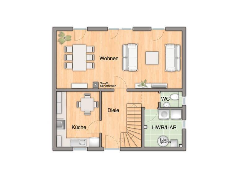 Haus Flair 110 Grundriss Erdgeschoss