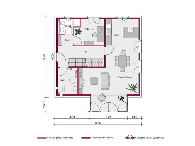 Einfamilienhaus Concept 4.1 Grundriss von Ein SteinHaus