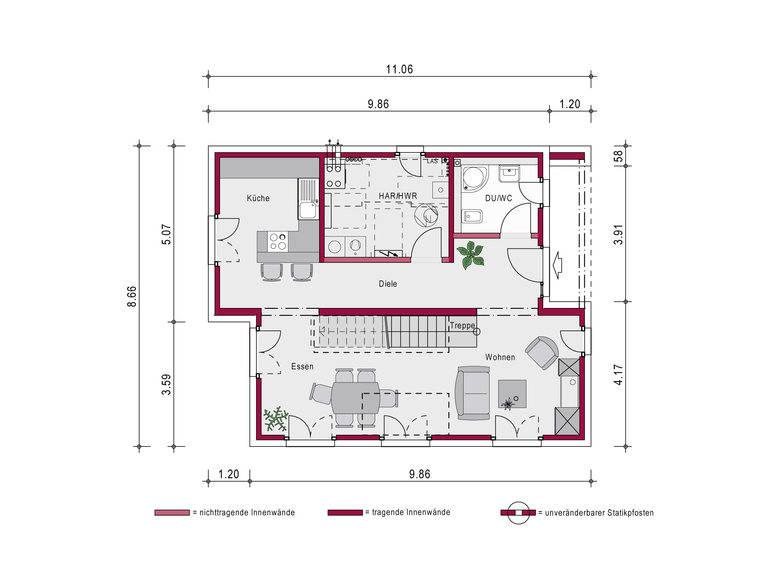 Pultdachhaus Concept 1.0 P Grundriss von Ein SteinHaus