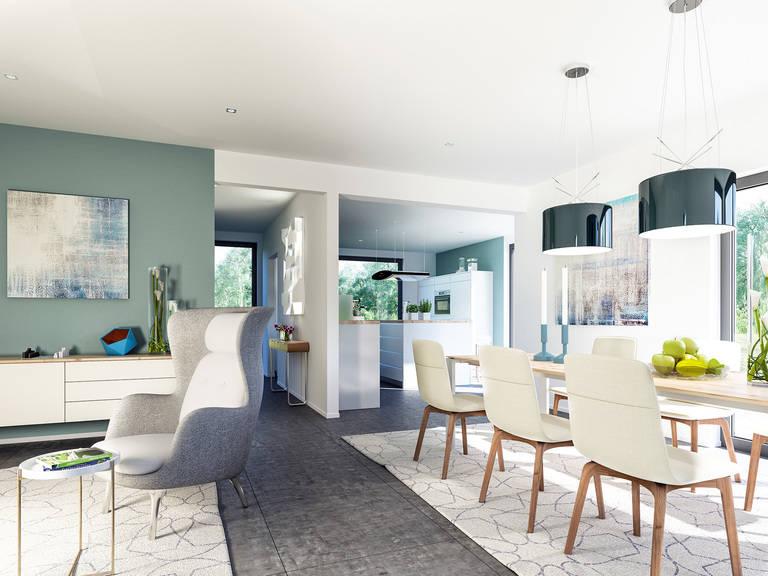 Innenansicht Wohn- und Essbereich - Fantastic 163 V4 von Bien-Zenker