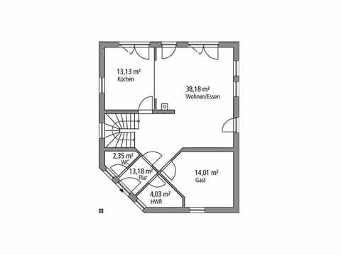 Einfamilienhaus 143 - Ytong Bausatzhaus Grundriss EG