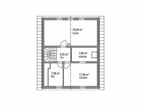 Einfamilienhaus 143 - Ytong Bausatzhaus Grundriss OG