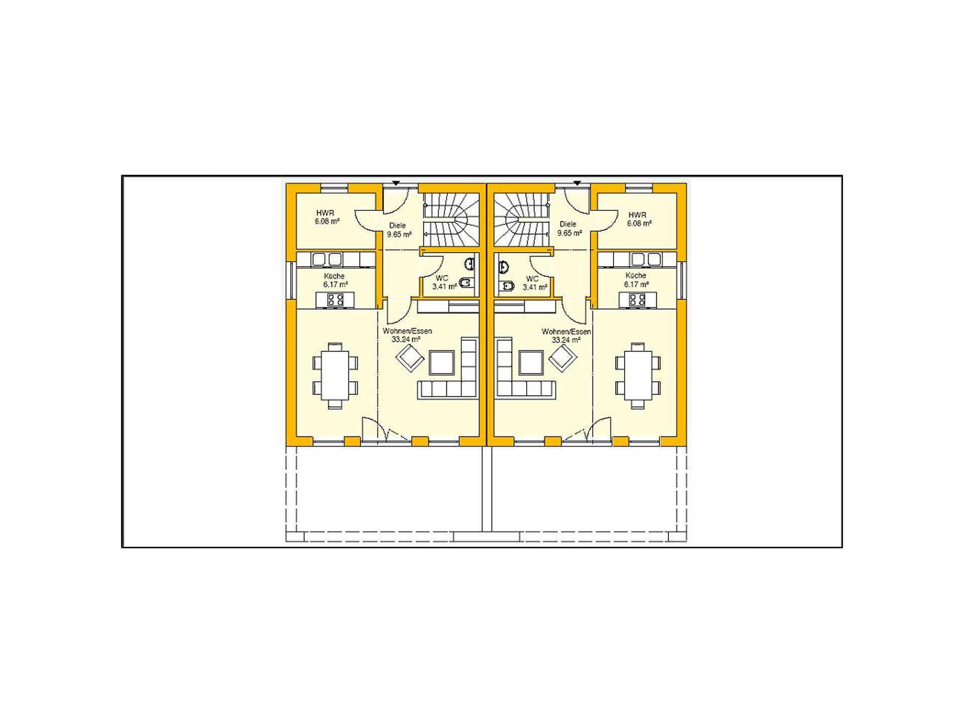 Beispielhaus 11.0 Grundriss EG von Ytong Bausatzhaus