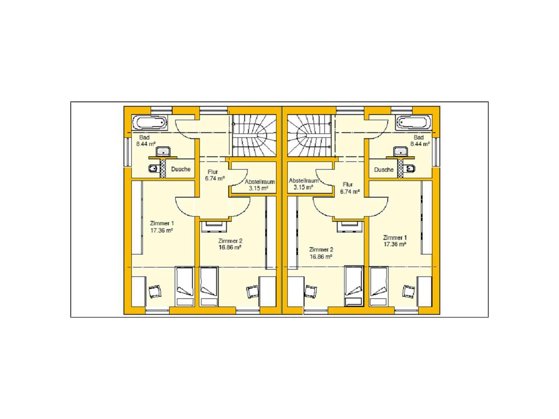 Beispielhaus 11.0 Grundriss OG von Ytong Bausatzhaus
