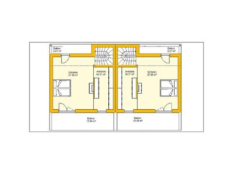 Beispielhaus 11.0 Grundriss OG2 von Ytong Bausatzhaus