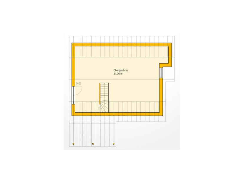 Bungalow A 69 Grundriss DG von Ytong Bausatzhaus