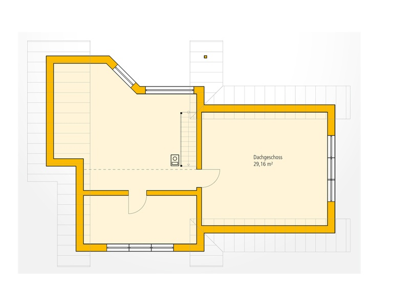 Bungalow WA 83 Grundriss DG von Ytong Bausatzhaus
