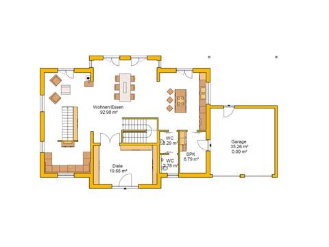 Genießerhaus Grundriss EG von Ytong Bausatzhaus