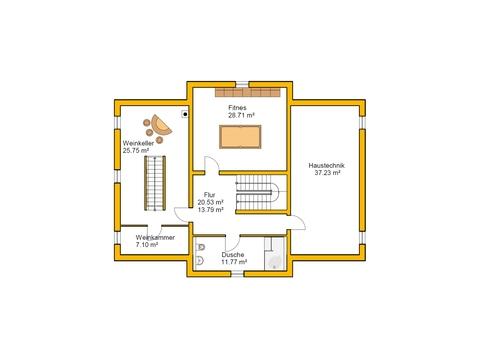 Genießerhaus Grundriss KG von Ytong Bausatzhaus
