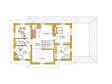 Genießerhaus Grundriss OG von Ytong Bausatzhaus