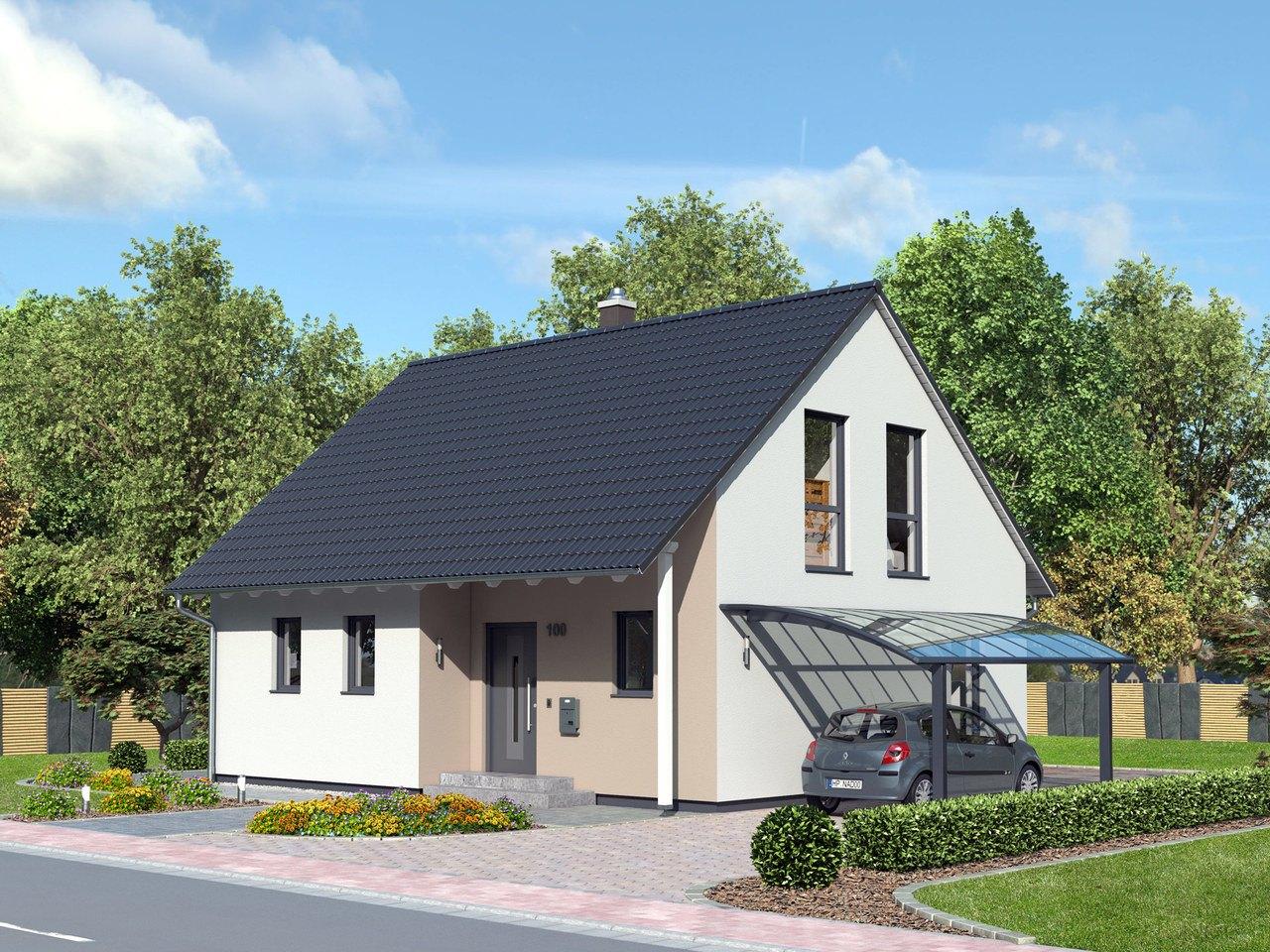 Kompakthaus 100 Straßenansicht von Ytong Bausatzhaus