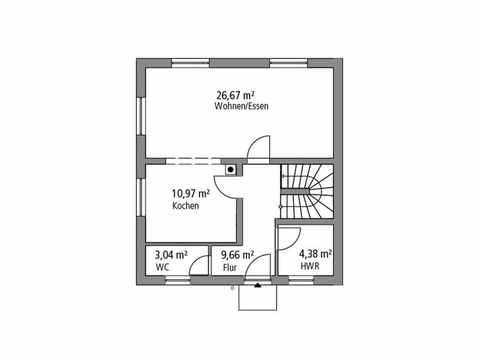 Stadtvilla 107 - Ytong Bausatzhaus Grundriss EG