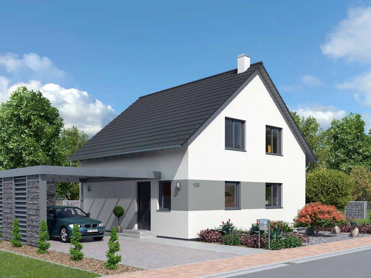 Kompakthaus 108 ytong bausatzhaus for Haus bauen katalog