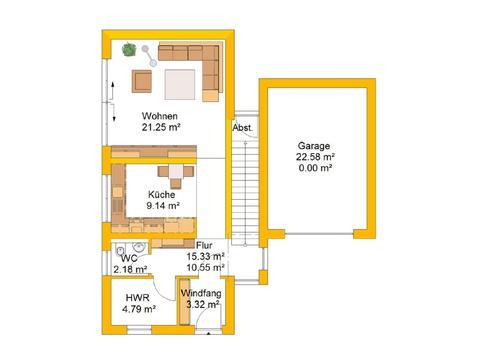 Lifestylehaus 155 Grundriss EG von Ytong Bausatzhaus