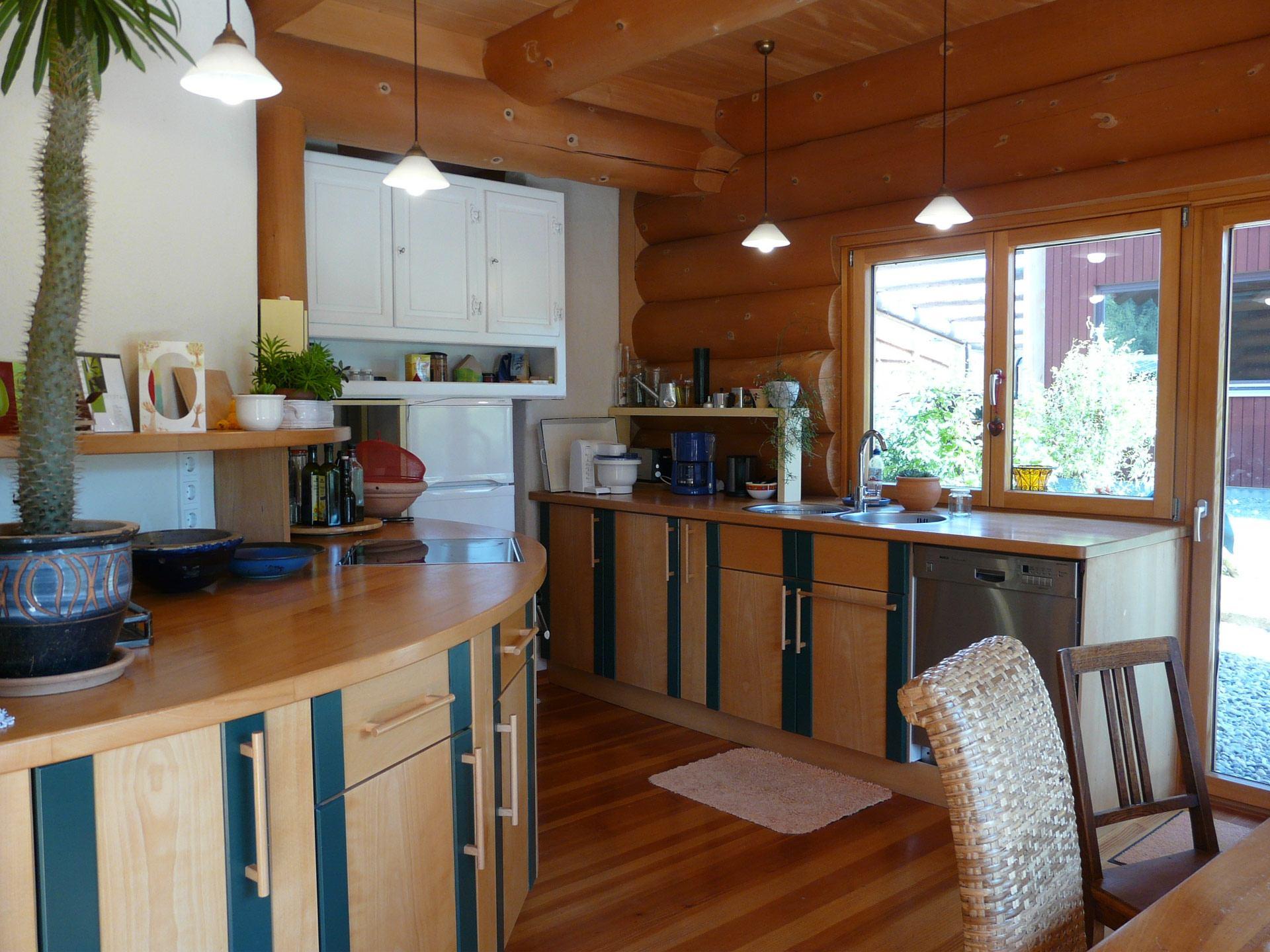 Naturstammhaus - Küche