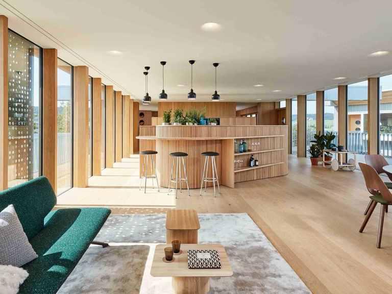 Konzepthaus Haussicht - Baufritz Essbereich und Küche