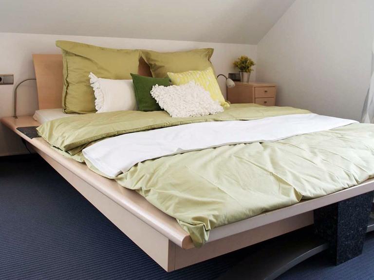 Innenansicht Schlafzimmer - Musterhaus Bad Vilbel bei Frankfurt - Fertighaus Weiss