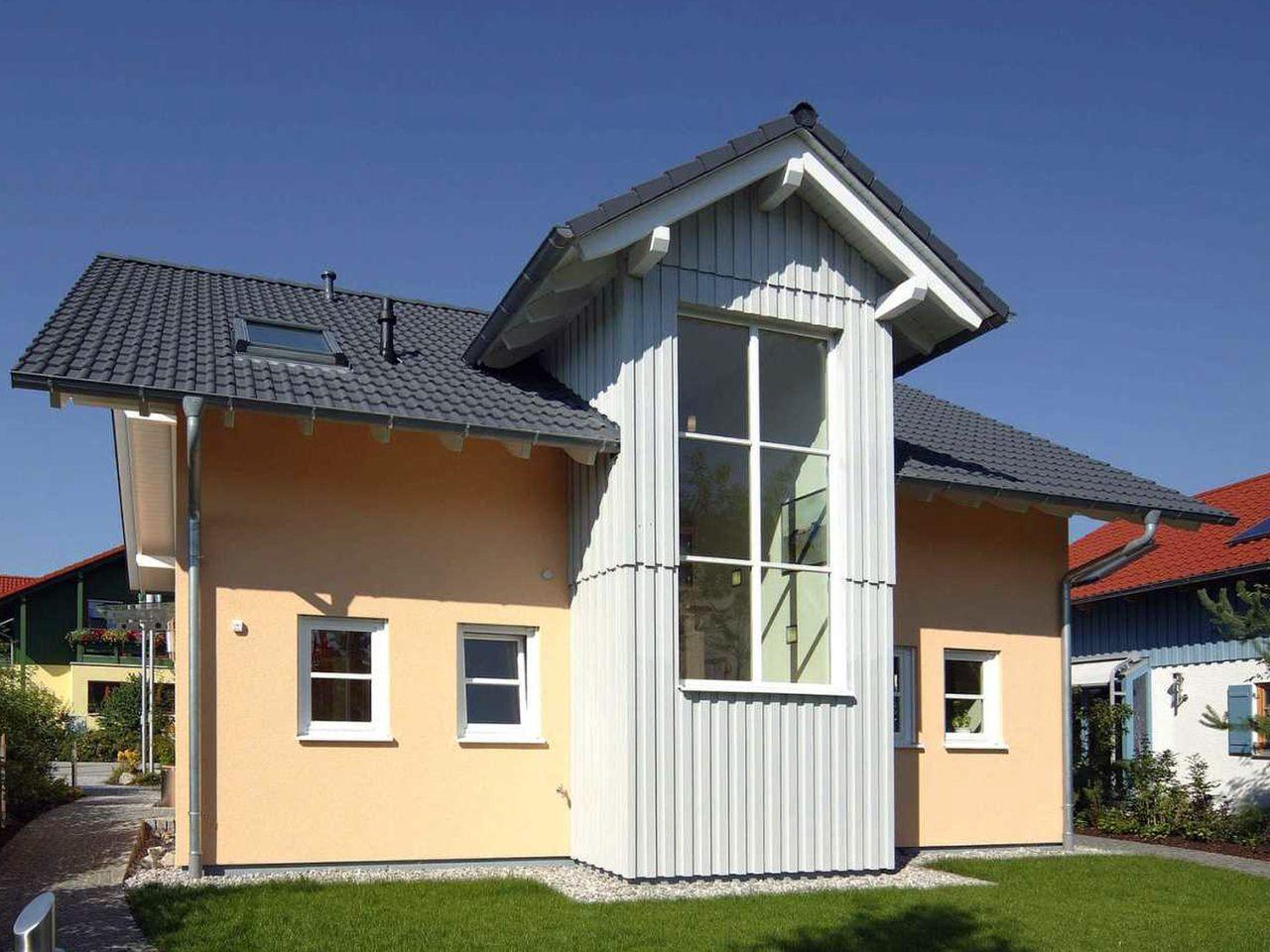 Musterhaus Poing bei München Außenansicht