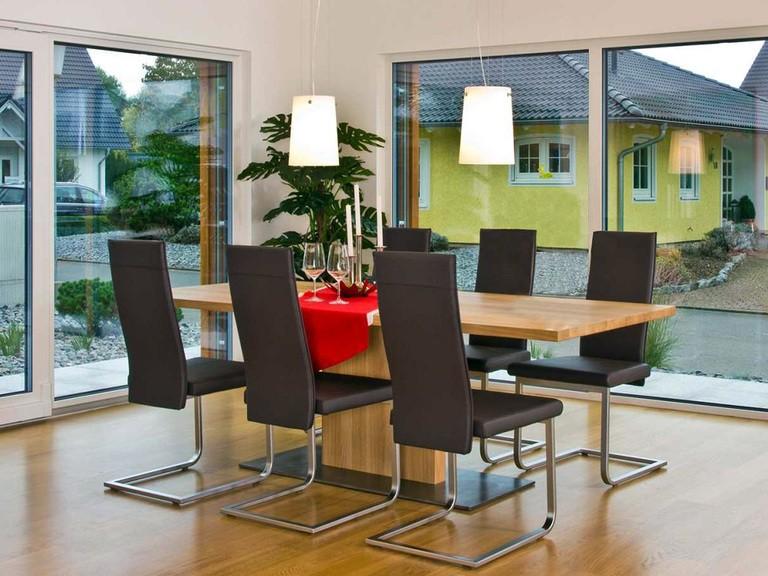 Innenansicht Essbereich - Musterhaus Future Mannheim - Fertighaus Weiss