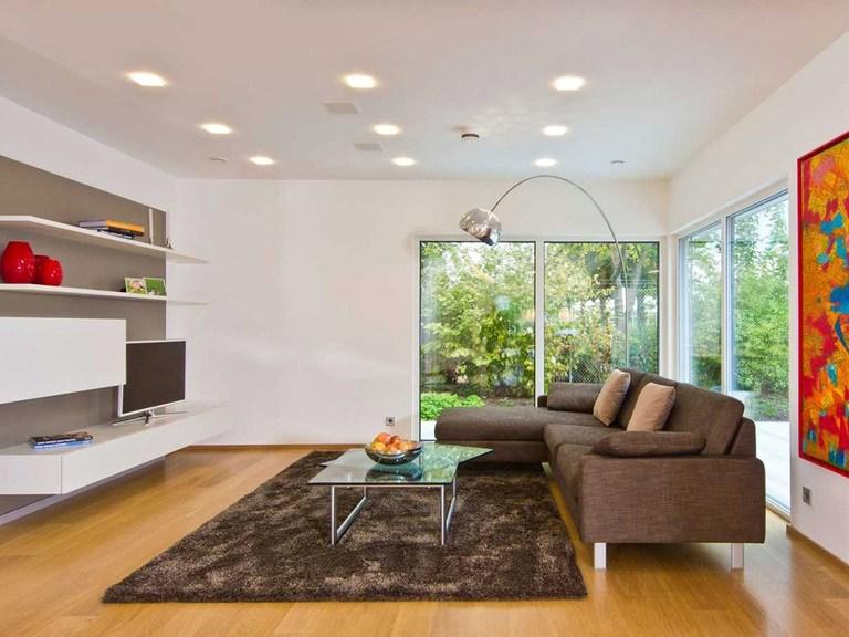 Innenansicht Wohnzimmer - Musterhaus Future Mannheim - Fertighaus Weiss