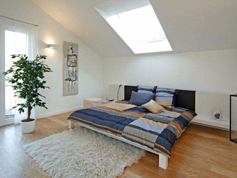 Innenansicht Schlafzimmer - Musterhaus Villingen-Schwenningen - Fertighaus Weiss